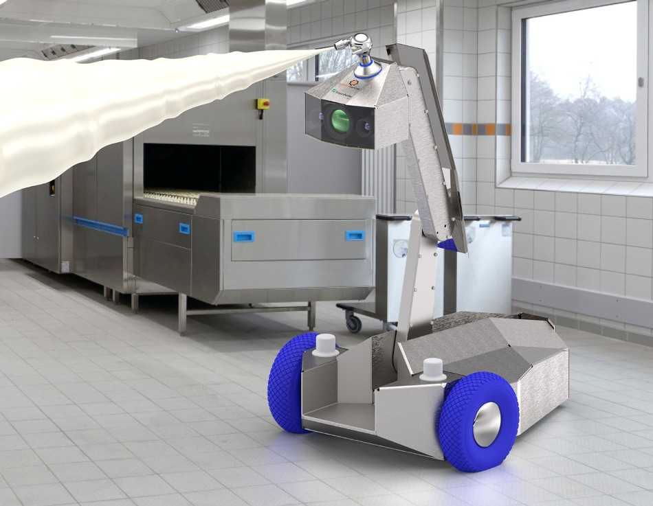 New Mobile Cleaning Robot Disinfects Equipment, Production Spaces