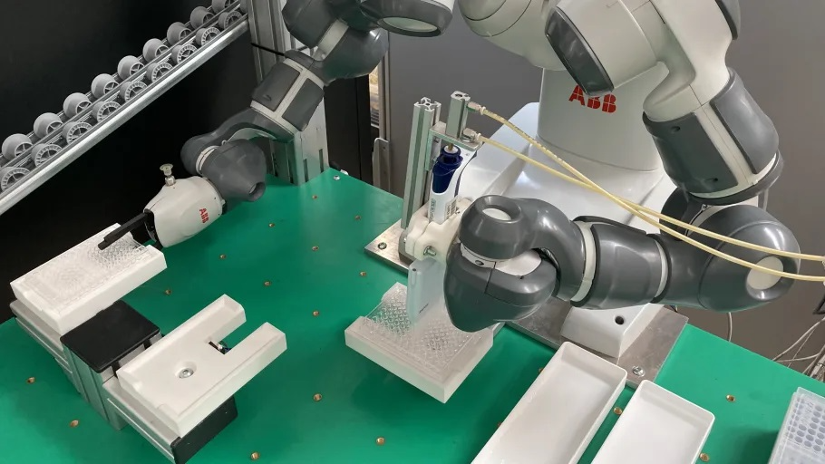 COVID-19: YuMi, a Collaborative Robot Helps Analyse a Higher Number of Serological Tests