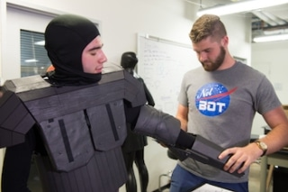 Robot Costume to Help NASA Astronauts Learn to Work with Their Artificial Helpers
