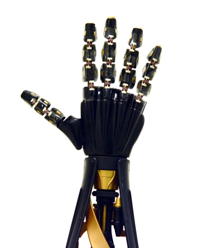 New Form of Stretchable Electronics Offers Robotic Hand a Sense of Touch
