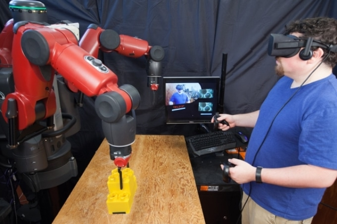 Novel Virtual Reality System to Facilitate Tele-Operating of Robots