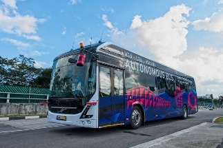 World's First Full-Size, Autonomous Electric Bus Launched by NTU Singapore and Volvo