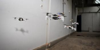 Swarm of Miniature Drones Successful in Exploring Unfamiliar Settings