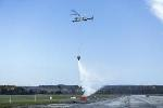 Unmanned Helicopter and Quadrotor Demonstrate Ability to Successfully Fight Fires