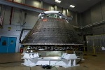Engineers Perform Final Decontamination on Orion Crew Module