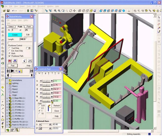 RobotWorks Robotics CAD Simulation