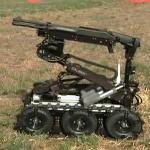 EOD/SWAT Robot with a Benelli M4 Super 90 Shotgun Mount – Demonstration by ICOR Technology Inc.